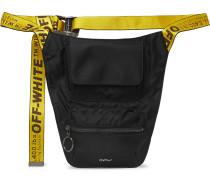 Logo-Jacquard Webbing and Shell Belt Bag