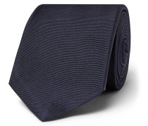 6cm Logo-Embroidered Mulberry Silk-Faille Tie