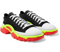 + Adidas Originals Detroit Runner Rubber-trimmed Canvas Sneakers - Black