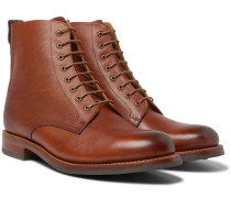 Murphy Burnished Textured-leather Boots - Tan