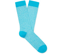 Mélange Organic Cotton-Blend Socks