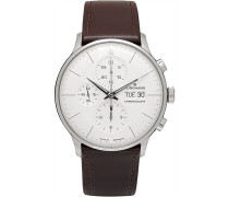 Meister Chronoscope 40mm Stainless Steel And Leather Watch - White