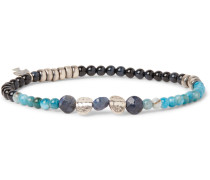 Multi-stone And Sterling Silver Bracelet