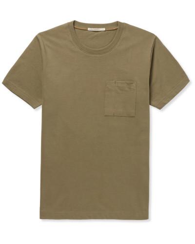 Kurt Worker Organic Cotton-jersey T-shirt - Green