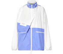 Oversized Colour-block Ripstop Jacket - White