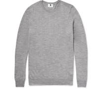 Charles Slim-fit Mélange Merino Wool Sweater - Gray