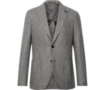 Slim-Fit Puppytooth Wool Suit Jacket