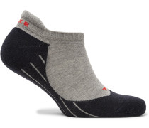 Ru4 Stretch-knit No-show Running Socks