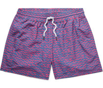 Bossa Short-length Printed Swim Shorts