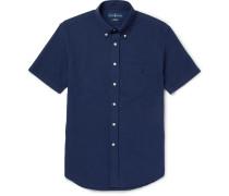 Slim-fit Button-down Collar Cotton-seersucker Shirt