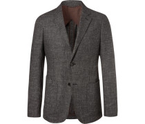 Charcoal Milano Easy Unstructured Woven Blazer