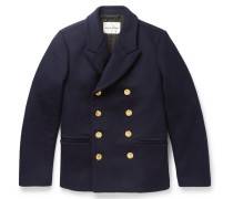 Daven Double-breasted Virgin Wool-blend Peacoat