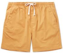 Stretch-cotton Drawstring Shorts