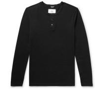 Ring-spun Cotton-jersey Henley T-shirt
