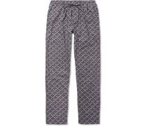 Metropolitan Tropicals Printed Cotton-poplin Pyjama Trousers
