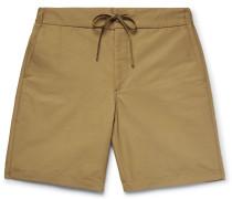Cotton-blend Gabardine Drawstring Shorts