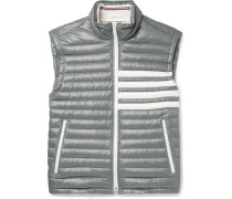 Striped Quilted Shell Down Gilet