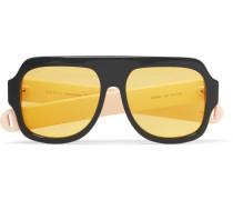 Oversized Aviator-style Acetate Sunglasses