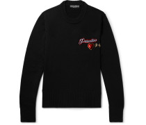 Slim-fit Appliquéd Wool Sweater