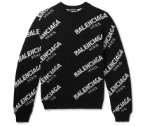 Logo-intarsia Knitted Sweater