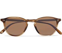 Hampton 46 Round-frame Tortoiseshell Acetate Polarised Sunglasses - Brown