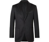 Midnight-Blue Slim-Fit Cashmere Suit Jacket