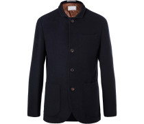 Navy Unstructured Cashmere Blazer
