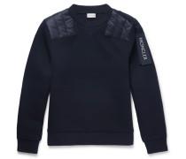 Shell-panelled Cotton-jersey Sweatshirt