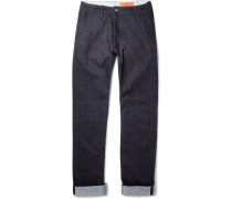 Leon Slim-fit Selvedge Stretch-denim Jeans