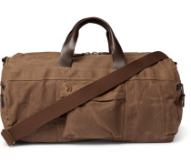 Abingdon Leather-trimmed Waxed Cotton-canvas Holdall
