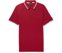 Contrast-tipped Pima Cotton-piqué Polo Shirt