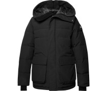 Wedgemount Quilted Canvas Hooded Down Jacket