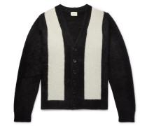 Striped Cashmere Cardigan - Black