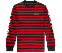 + Sophnet Slim-fit Logo-print Striped Cotton-jersey T-shirt - Red
