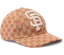 + San Francisco Giants Appliquéd Logo-print Coated-canvas Cap - Brown