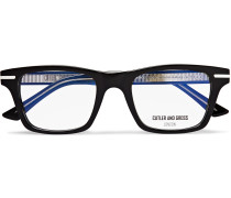 Square-Frame Acetate And Silver-Tone Optical Glasses