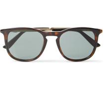 Round-frame Tortoiseshell Acetate And Gold-tone Sunglasses