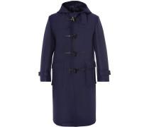 Leather-trimmed Wool-felt Duffle Coat