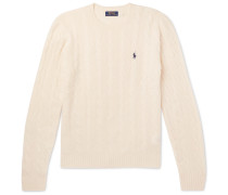 Cable-knit Merino Wool And Cashmere-blend Sweater - Cream