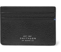Burlington Two-tone Full-grain Leather Cardholder - Black