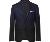 Storm-blue Slim-fit Dégradé Virgin Wool-blend Suit Jacket