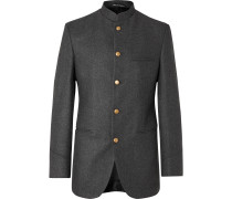 Charcoal Shaftesbury Slim-Fit Cashmere-Twill Jacket