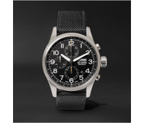 Pro Pilot Automatic Chronograph 44mm Stainless Steel And Canvas Watch