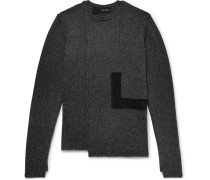 Panelled Knitted Sweater
