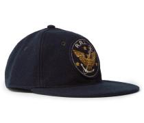 Logo-embroidered Wool-blend Baseball Cap - Navy