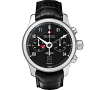 Mkii Jaguar Automatic 43mm Stainless Steel And Alligator Watch - Black