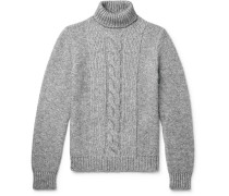 Cable-knit Rollneck Sweater - Gray