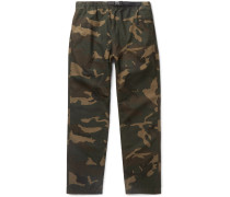 Colton Camouflage-print Cotton-ripstop Trousers - Green