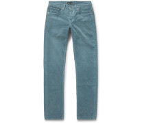 Skinny-fit Cotton-corduroy Trousers - Blue