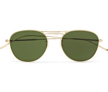 Cade Aviator-style Gold-tone Sunglasses - Gold